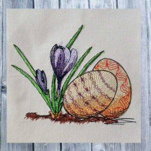 Dutch easter crocus 1318 - machine embroidery design