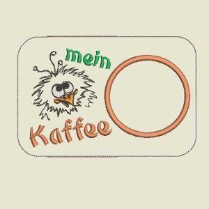 machine embroidery design Drip mat Scribble Bird