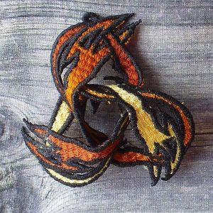 3D Dragon Triquetra