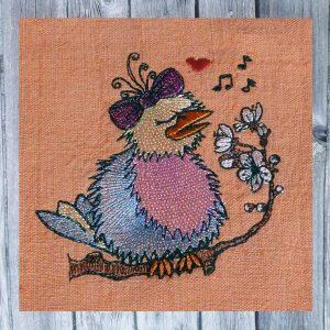 Doodle bird singing 1010