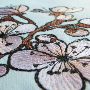 Kirschblüten 1010 Stickmuster Detail1