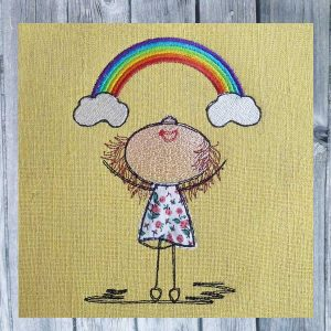 Lillys Rainbow embroidery design