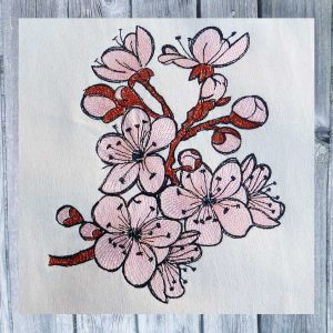 Cherry Blossom 1318 - machine embroidery