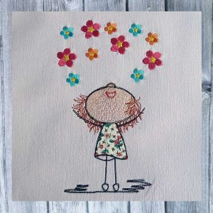 Lillys flowers embroidery design