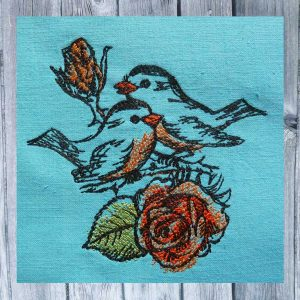 Rose birds 1010 embroidery