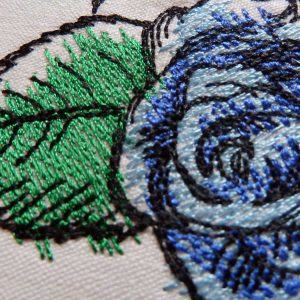 Rose Birds 1318 machine embroidery Detail1