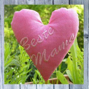 Stickmuster ITH Herz Beste Mama