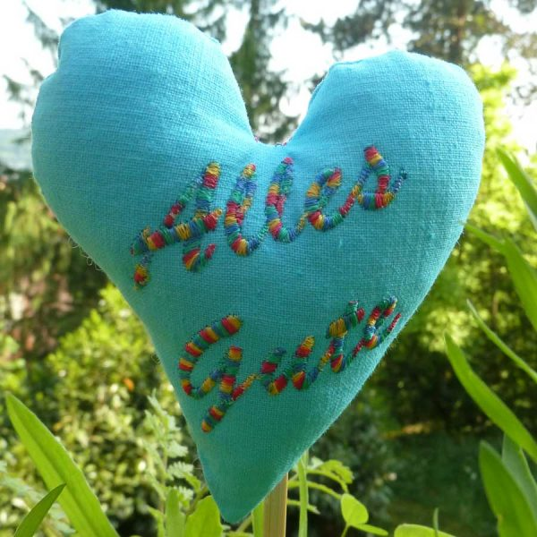 In-the-hoop heart mini embroidery design