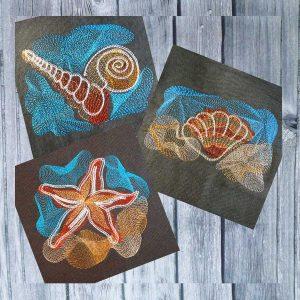machine embroidery design Sea Creatures Set-1