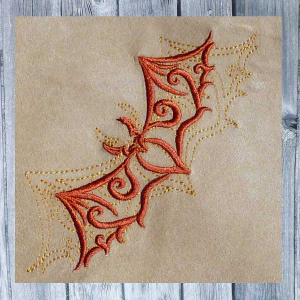 embroidery Tribal bat 1010