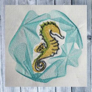 embroidery seahorse 1318