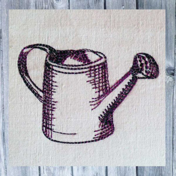 Embroidery Watering can Freebie