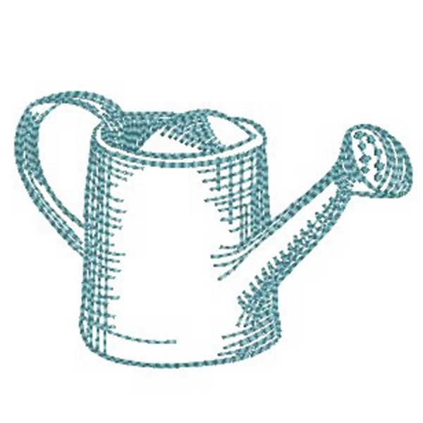 Embroidery Watering can Freebie preview