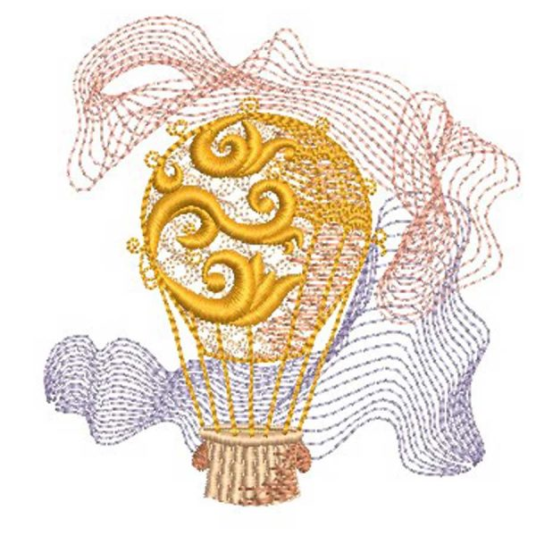Embroidery design hot air balloon 1010 preview 1