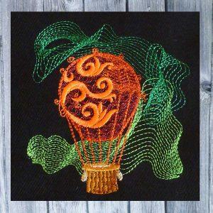 Embroidery design hot air balloon 1010