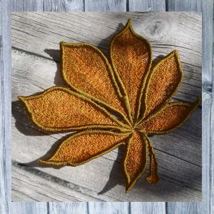 Chestnut Leaf Lace 13x13 - Machine Embroidery pattern