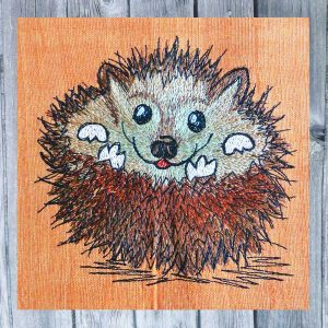 embroidery pattern Hedgehog Huggy 1313