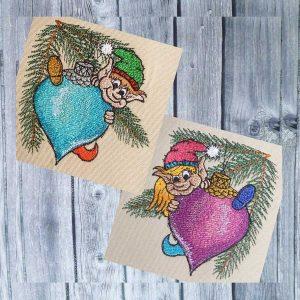 Embroidery File Christmas Elves Set 1010