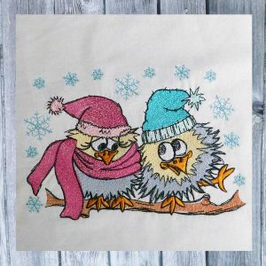 Winter Love Birds 1318 embroidery