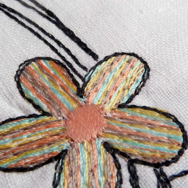 Scribble frame set 13x13 - embroidery detail1