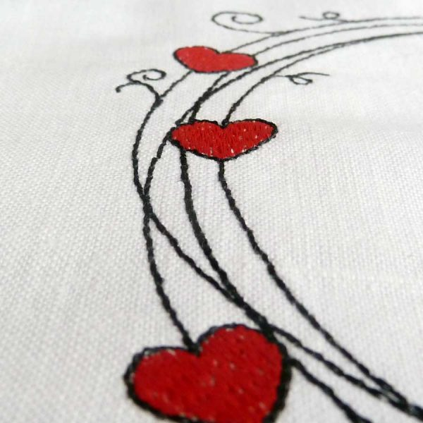 Scribble frame set 13x13 - embroidery detail2