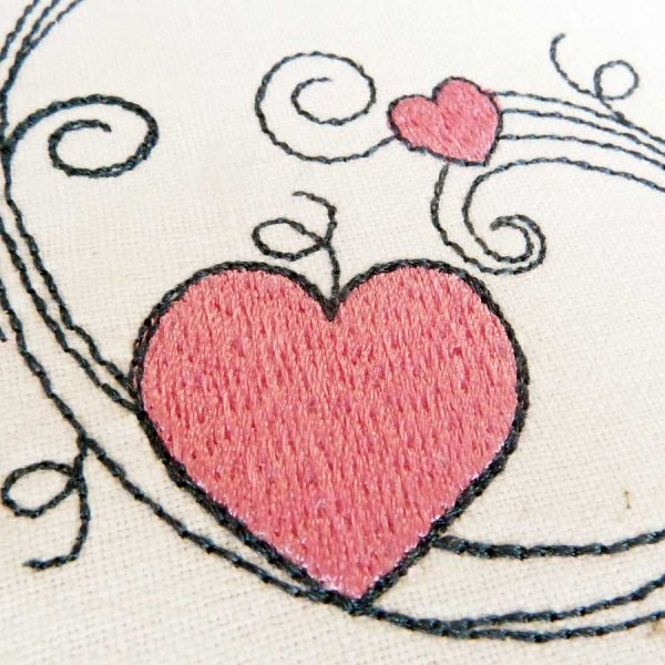 Scribble tendrils set 13x18 - machine embroidery detail4