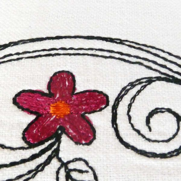 Scribble tendrils set 13x18 - machine embroidery detail3