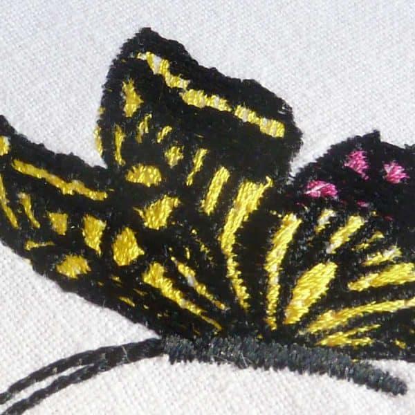 Stickdesign Schmetterling detail1