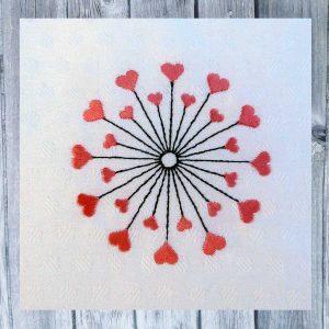 flower hearts freebie