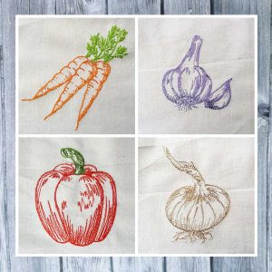 embroidery design vegetable set 01