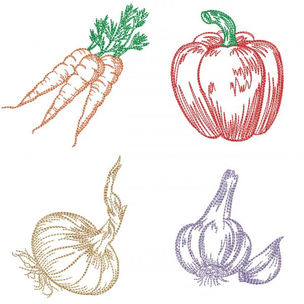 embroidery design vegetable set 01 preview