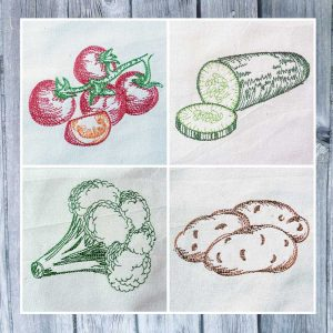 embroidery design vegetable set 02