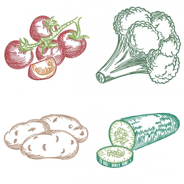 embroidery design vegetable set 02 preview