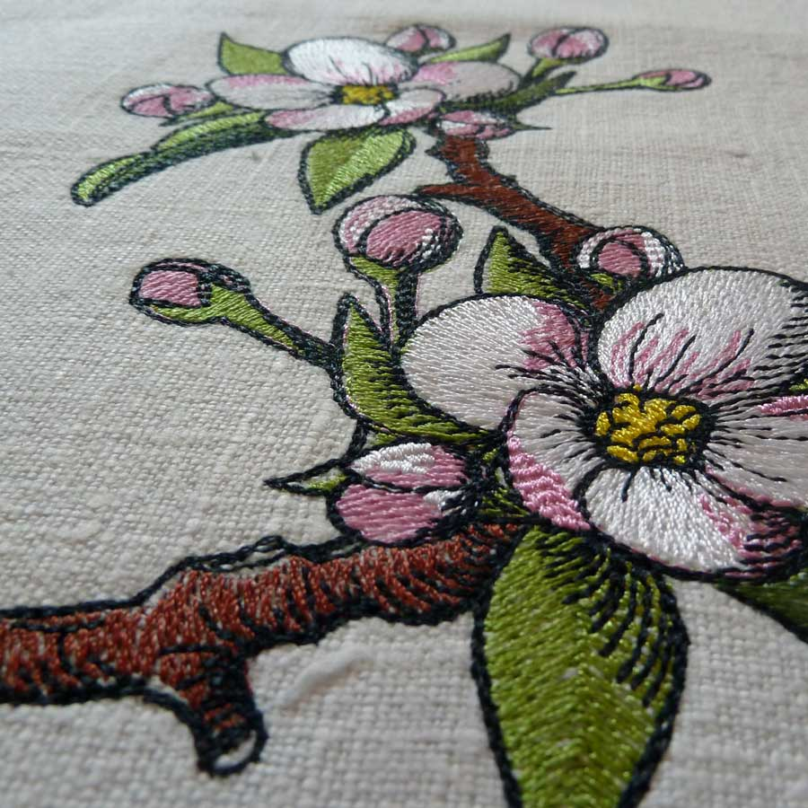 Apple blossom 1318 embroidery